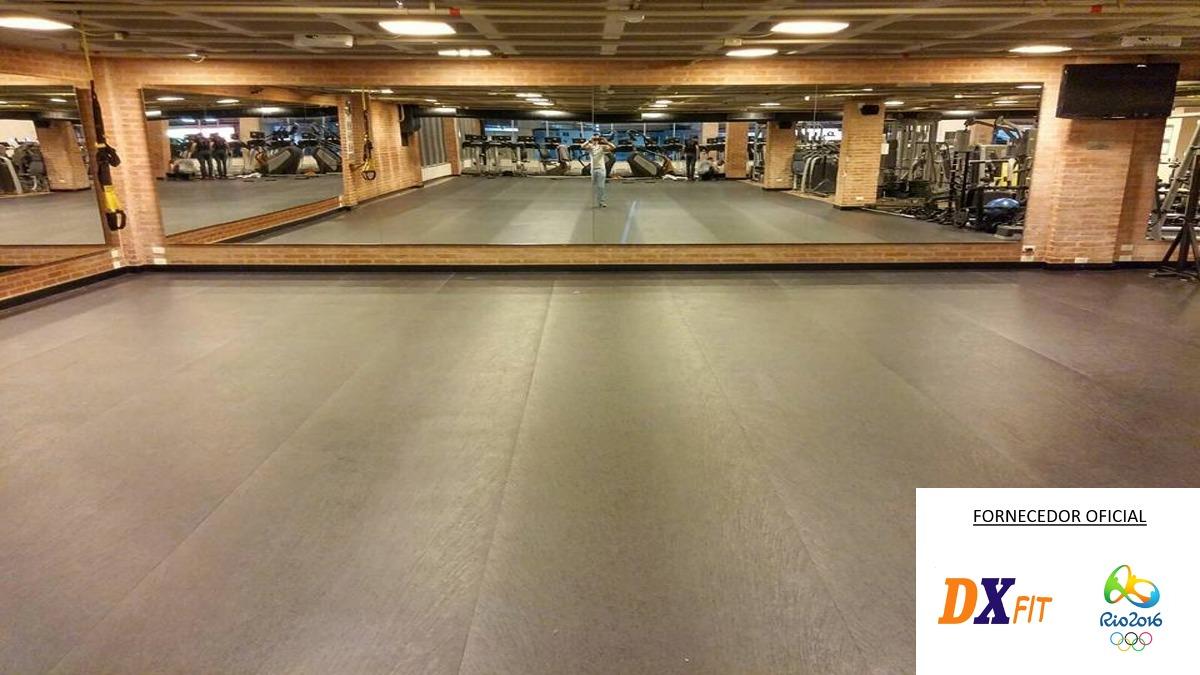 Loja Fitness Academia Escrit Rio Sala Comercial Piso Pvc Eva R 64  -> Tapete Para Sala Pvc