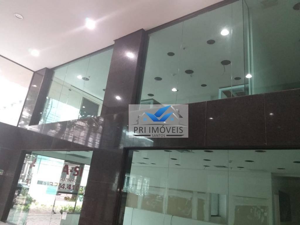 loja para alugar, 100 m² por r$ 9.000,00/mês - centro - santos/sp - lo0018