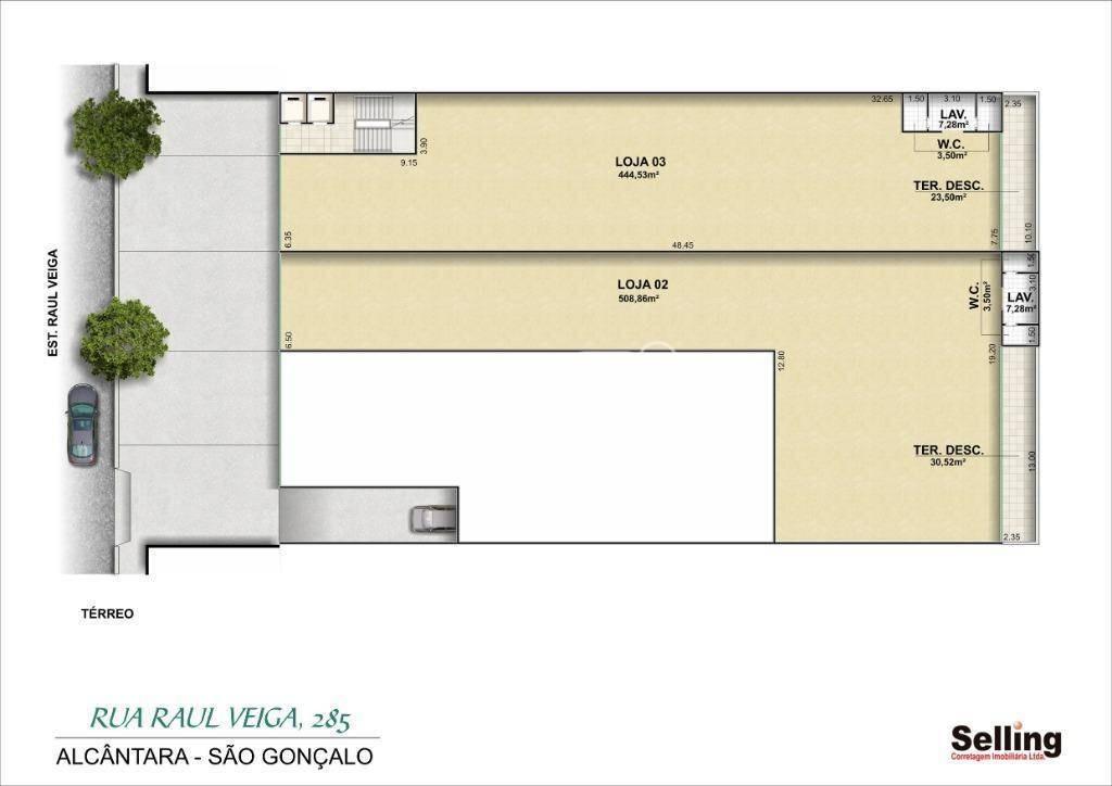 loja para alugar, 1000 m² por r$ 60.000,00/mês - alcântara - são gonçalo/rj - lo0083