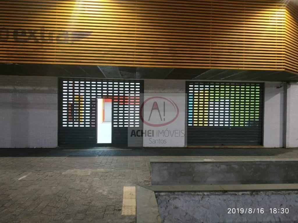 loja para alugar, 250 m² por r$ 18.500/mês - boqueirão - santos/sp - lo0052