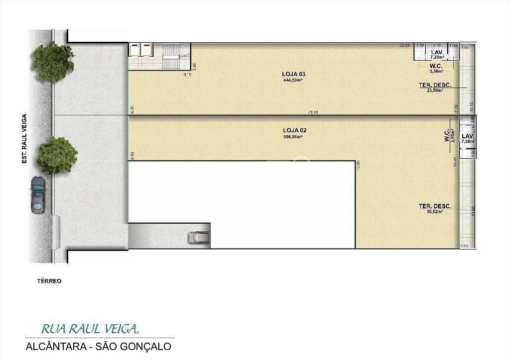 loja para alugar, 445 m² por r$ 30.000,00/mês - raul veiga - são gonçalo/rj - lo0017