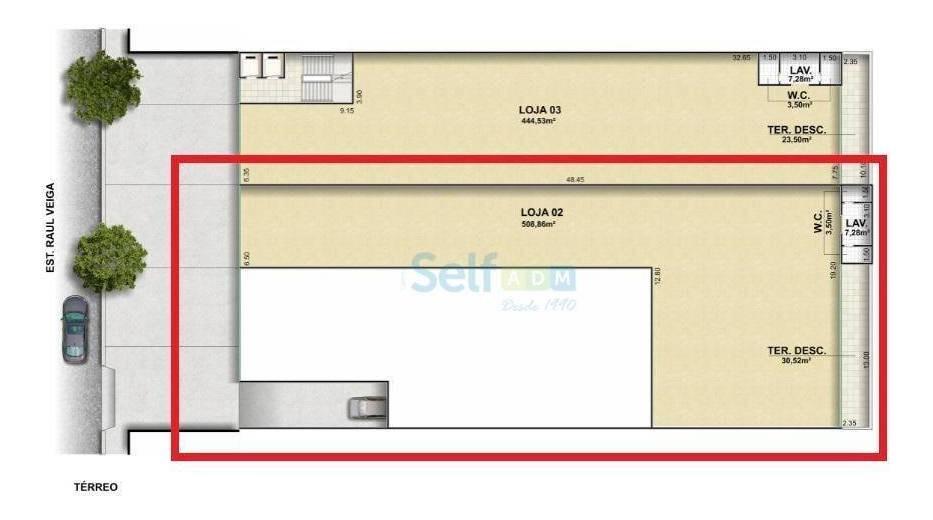 loja para alugar, 508 m² - raul veiga - são gonçalo/rj - lo0052