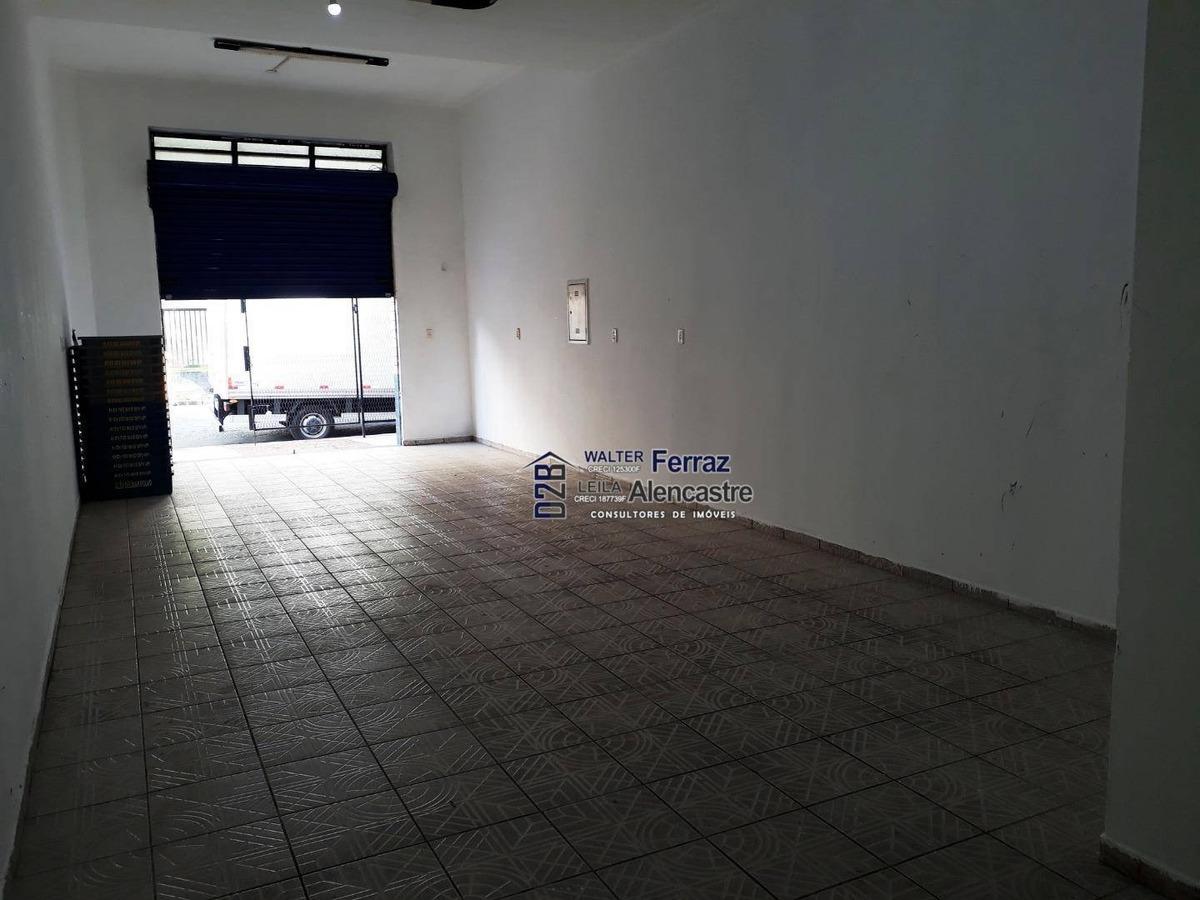 loja para alugar, 65 m² por r$ 2.900,00/mês - macuco - santos/sp - lo0010