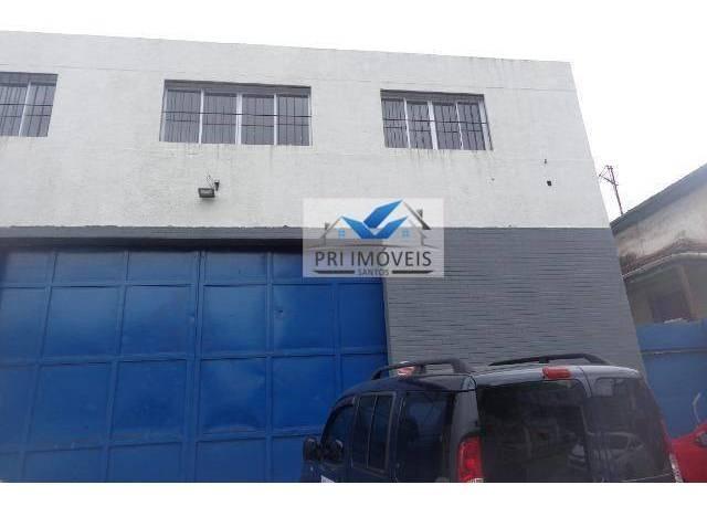 loja para alugar, 750 m² por r$ 15.000,00/mês - macuco - santos/sp - lo0029