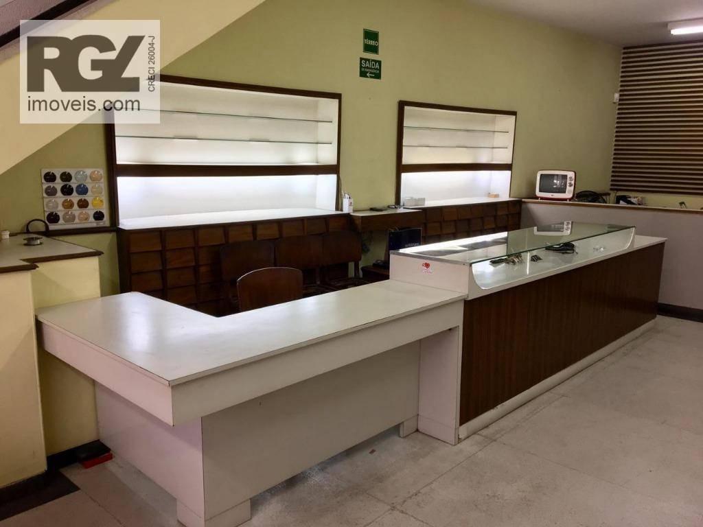 loja à venda, 180 m² por r$ 1.400.000,00 - centro - santos/sp - lo0058