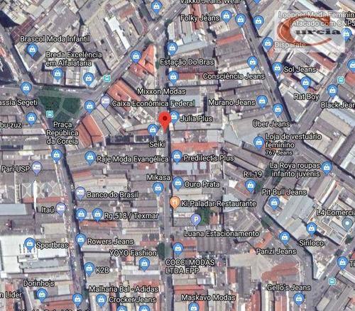 loja à venda, 430 m² por r$ 7.900.000 - brás - são paulo/sp - lo0014