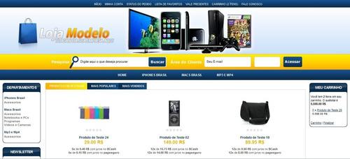 loja virtual 10.2 com layout exclusivo