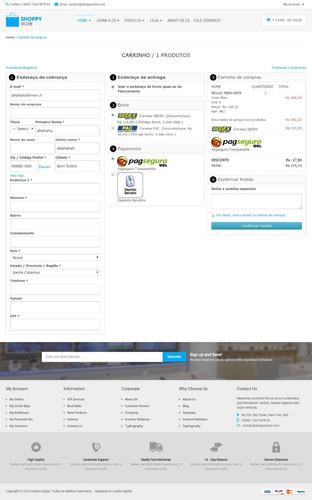 loja virtual completa (vários modelos para vários comércios)