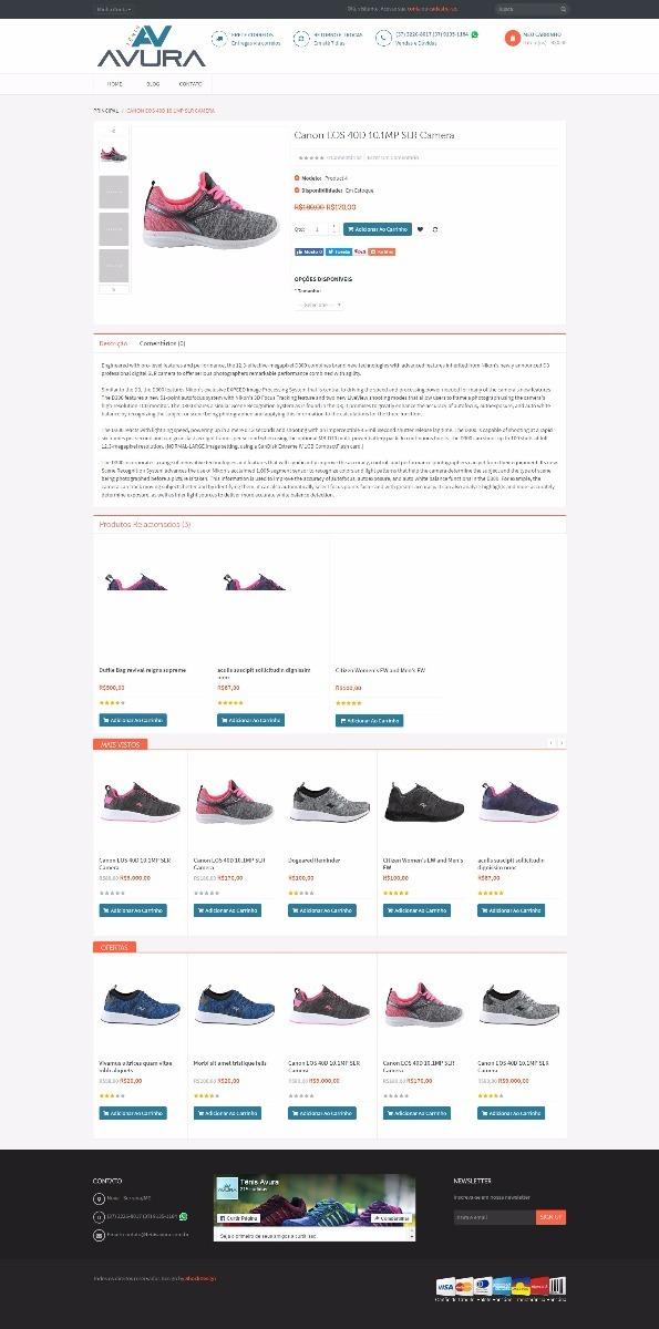 fe6454edb loja virtual de tenis script open cart calçados. Carregando zoom.