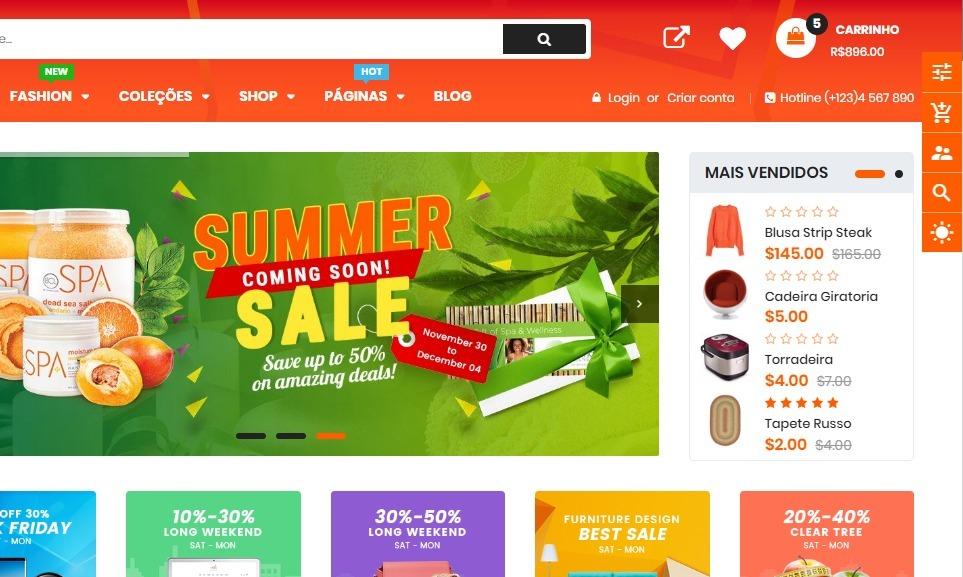 cc1032634ef Loja Virtual Estilo Aliexpress Shopify Ecommerce 2019 - R  500