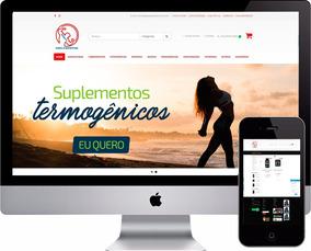 8ec7bbb7a Loja Virtual Fitness Suplementos Loja Ecommerce Completa. R  260