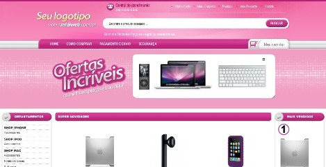 Loja Virtual Gold E-commerce + Chat + Carrossel + Banner - R$ 5,99 ...