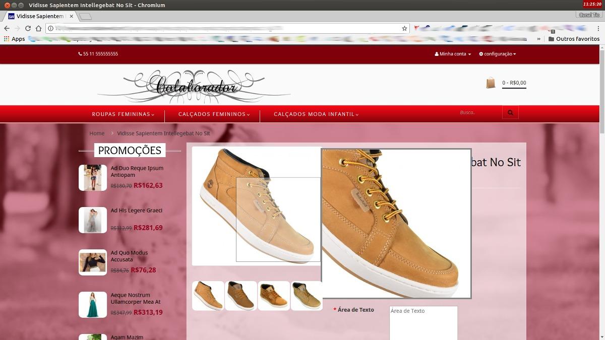 7eb32070b loja virtual linda para venda de roupas e calçados + brinde. Carregando  zoom.