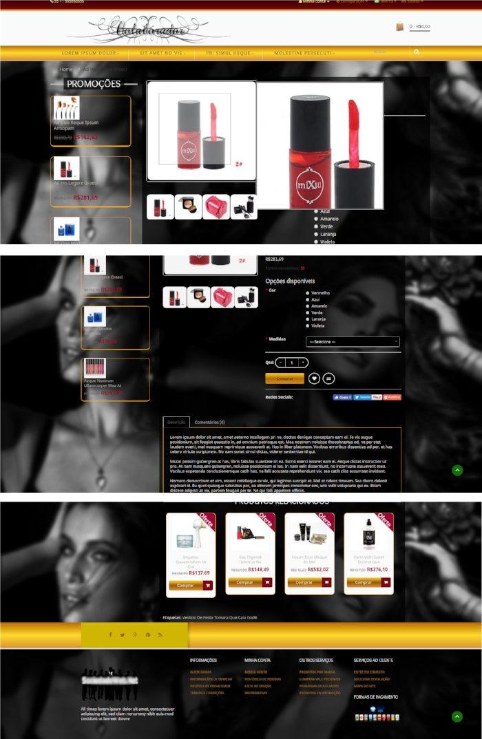 29a423c20 Loja Virtual Modelo Para Perfume E Cosméticos C vídeo Fundo - R  395 ...