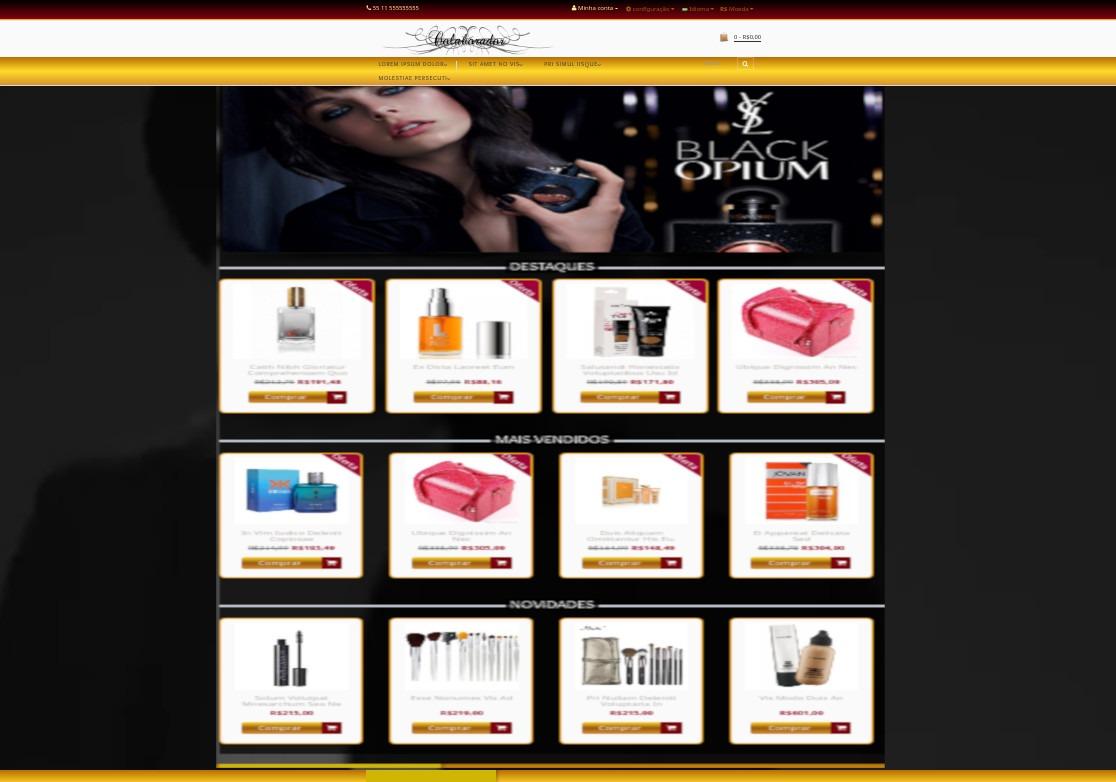 6d1f86318 Loja Virtual Modelo Para Perfume E Cosméticos C vídeo Fundo - R  389 ...