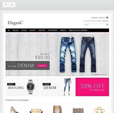 loja virtual open cart profissional elegante