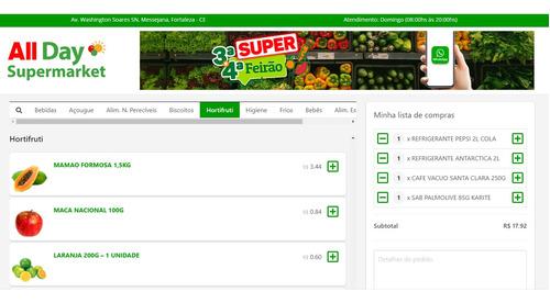 loja virtual para supermercado via whatsapp / mensal