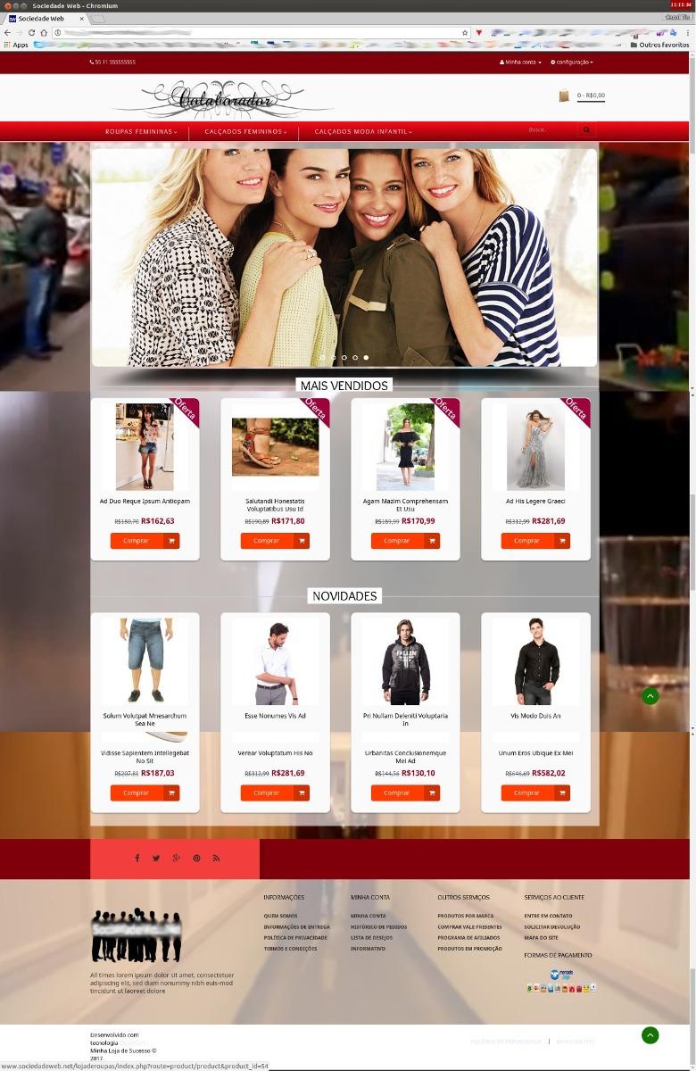5453dbe59 Loja Virtual Para Vender Roupas E Calçados C/vídeo De Fundo - R$ 389 ...