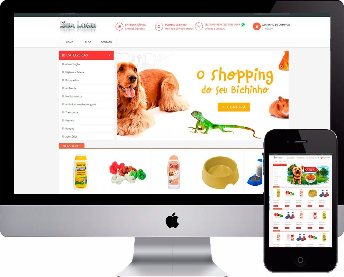 2721424f3e Loja Virtual Php Modelo Pet Shop Responsiva Mod.2019 +brinde - R ...