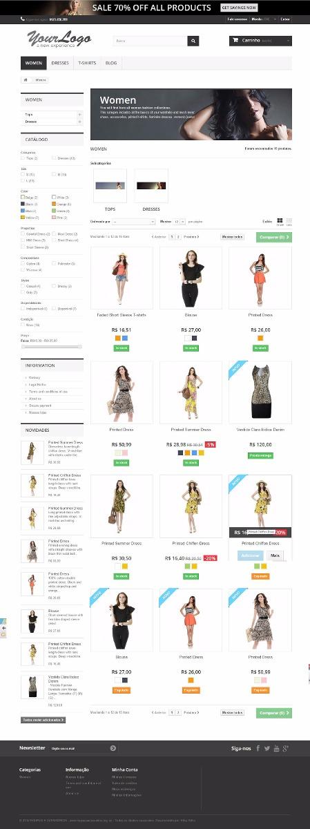 c3826778e loja virtual prestashop responsive - roupas e acessórios. Carregando zoom.
