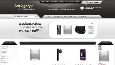 loja virtual, produtos ilimitados