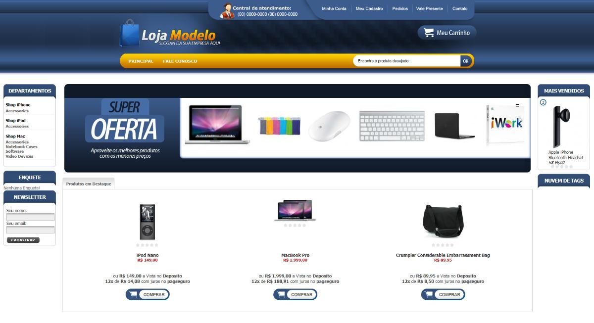 Loja Virtual Profissional Para Artigos Esportivos - R  300 cc101b6e7b328