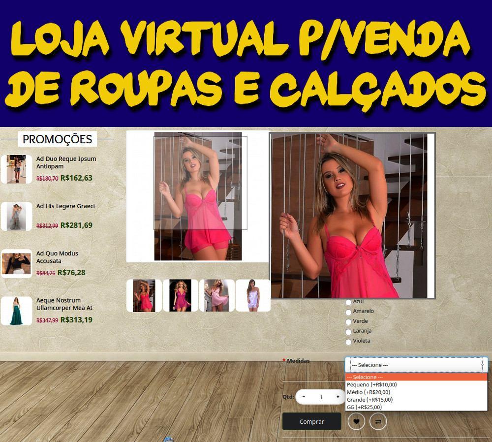 1250b380e Loja Virtual P/venda De Roupas E Calçados + 1 Ano Hospedagem - R$ 349,99 em  Mercado Livre