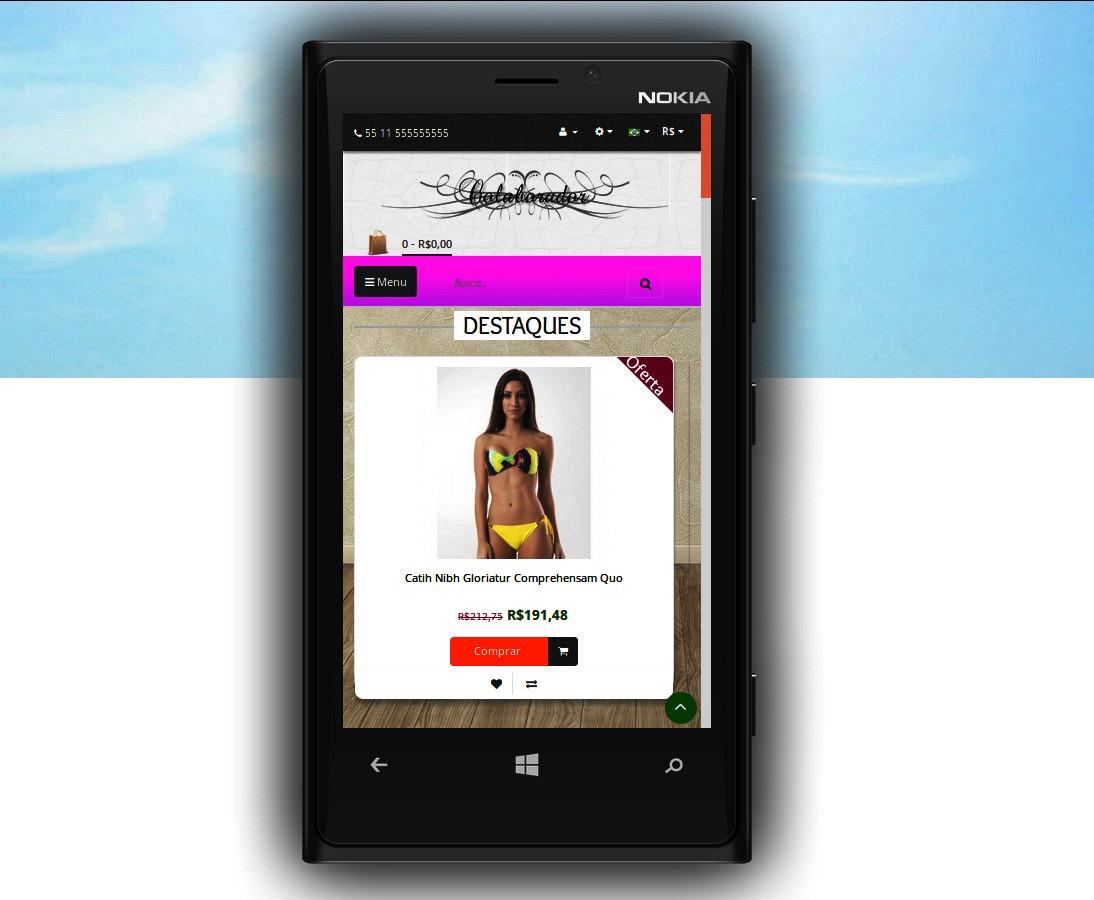a414ffb4f Loja Virtual P/venda De Roupas E Calçados + 1 Ano Hospedagem - R ...