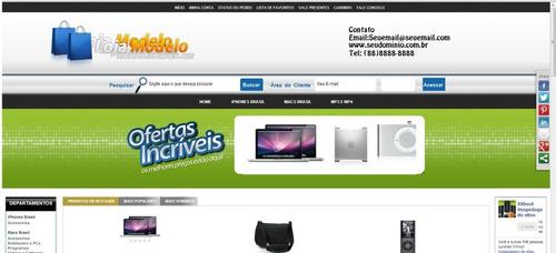 loja virtual + registro de dominio + hospedagem anual