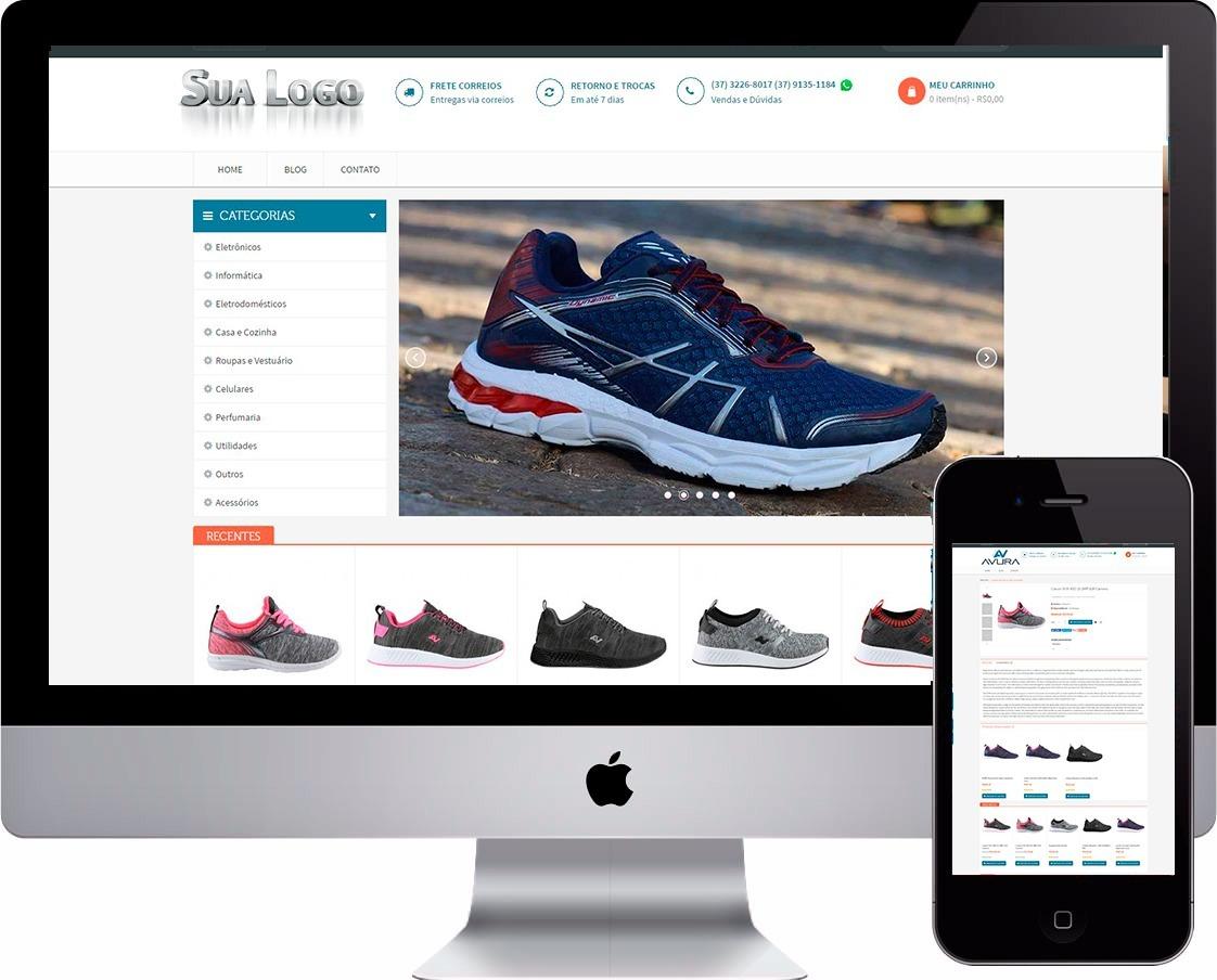 loja virtual tênis esporte artigo esportivo site vendas. Carregando zoom. 0d0412e71aa5b