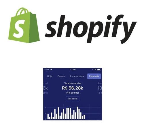 lojas dropshipping shopify montagem imediata 12x s/ juros