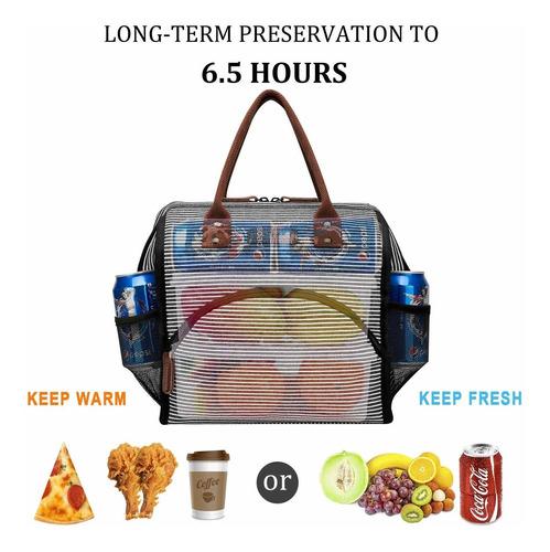 lokass bolsa de almuerzo con aislamiento lonchera amplia