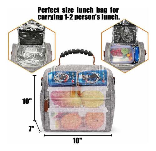 lokass lonchera bolsa de almuerzo aislada con aislamiento al
