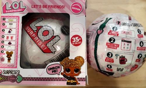 lol bola 7 sorpresas serie glitter generico excelente