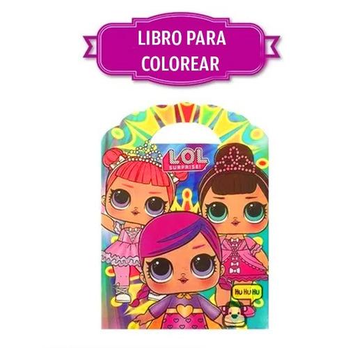 lol muñeca lol doll libro colorear  surprise lol muñeca
