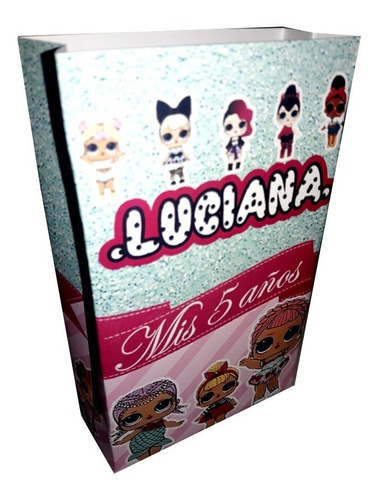 lol surprise bolsita imprimible personalizada candy bar