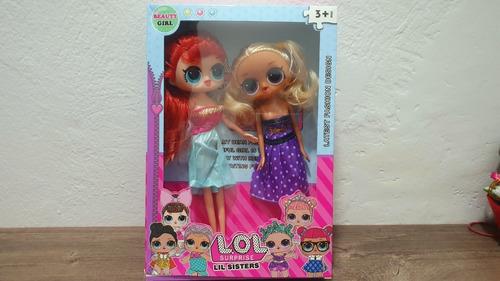 lol surprise  combo caja x 2 muñecas con vestido