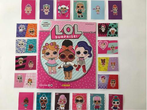 lol surprise, kit  com album + 100 figurinhas sem repetição