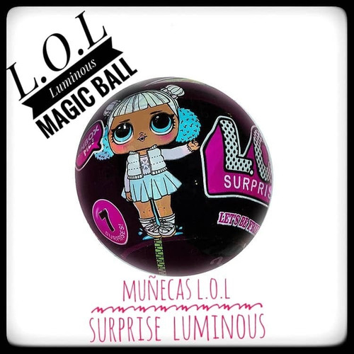 lol surprise muñeca + 7 accesorios c/u cambian color