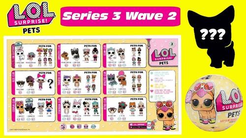 l.o.l. surprise serie 3 pets lol 7 capas original importada