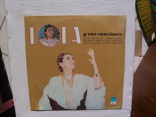 lola beltran. lola y sus canciones. disco l.p. gas 1978 azul
