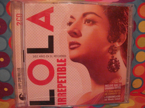 lola flores cd irrepetible  made in the eu. 2 cds.