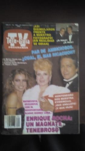 lola merino y carlos bracho en portada de revista tele guia