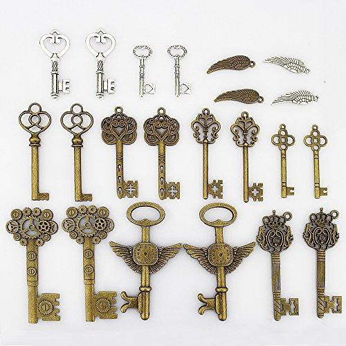 lollibeads 230 gram bronce antiqued / metal plateado llaves