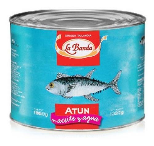 lomito de atún en aceite y agua la banda 1800 grs
