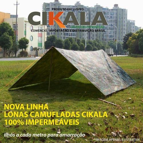 lona 2x2 mts camuflada camping exército militar impermeável