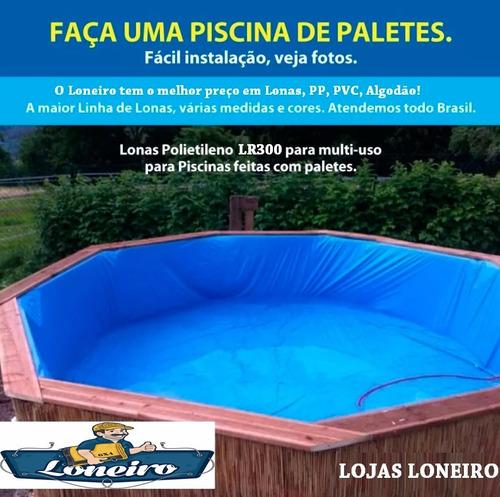Lona 4x4 m forte resistente piscina de pallete manta pp for Piscina 4x4
