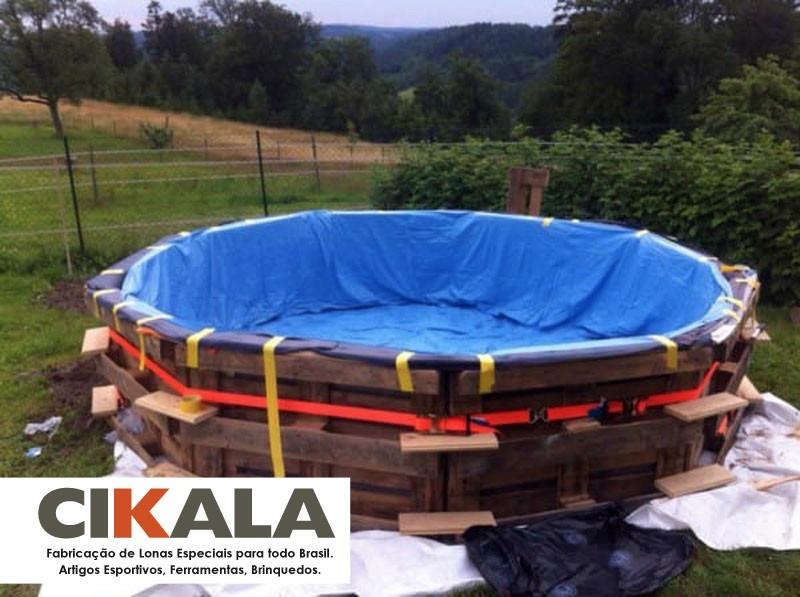 Lona 9x5 forte resistente piscina palete azul super promo o r 731 32 em mercado livre - Parches para piscinas de lona ...