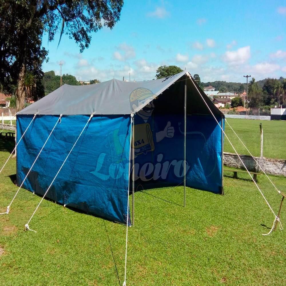 Lona Azul Cz Pppe 8x5 Barraca Tenda Toldo Proteção