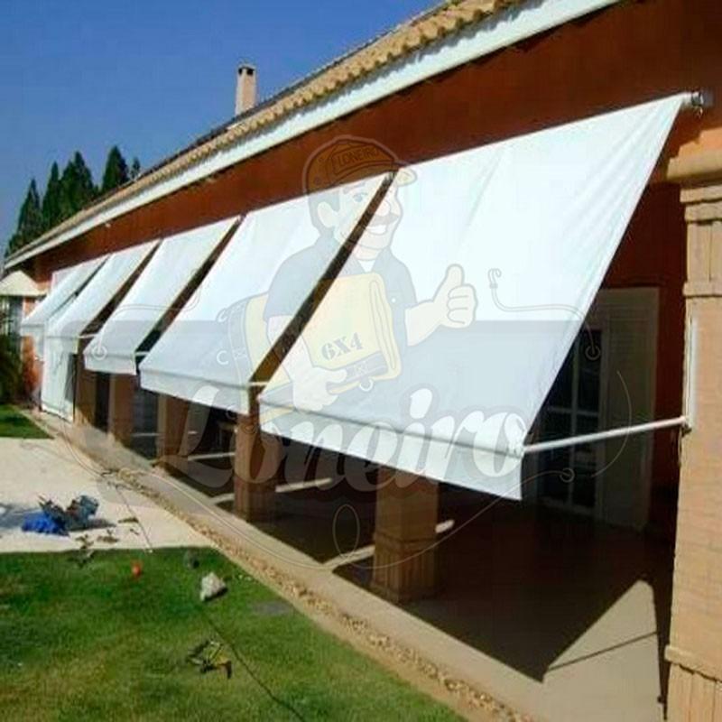 Lona branca vinil de pvc 15x1 57 toldo tenda casa telhado for Mecanismos para toldos de lona